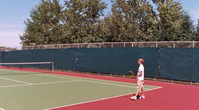 Tennis court fence tarp
